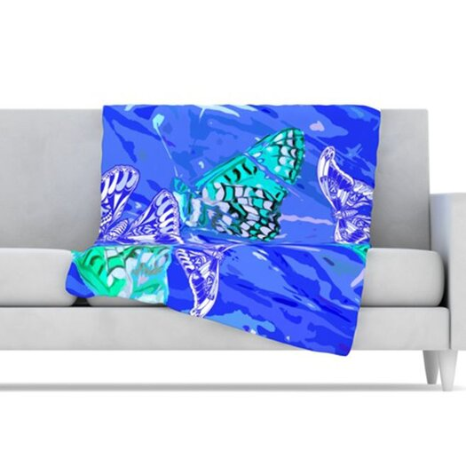 KESS InHouse Butterflies Party Fleece Throw Blanket