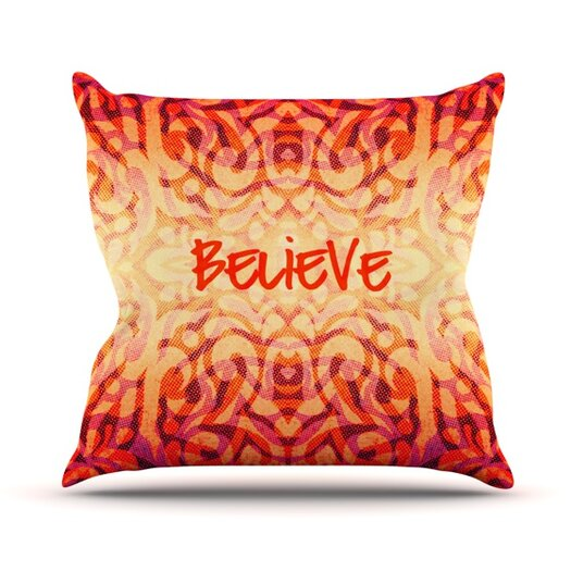 KESS InHouse Tattooed Believer Throw Pillow