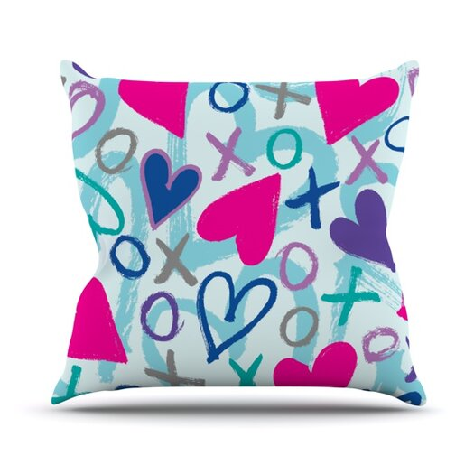KESS InHouse Hearts A Flutter Throw Pillow