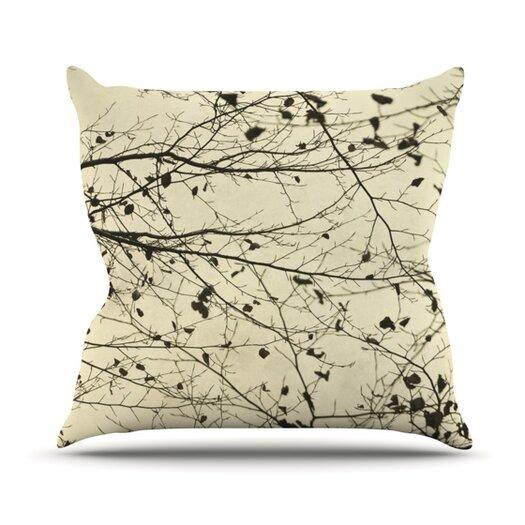 KESS InHouse Boughs Neutral Throw Pillow