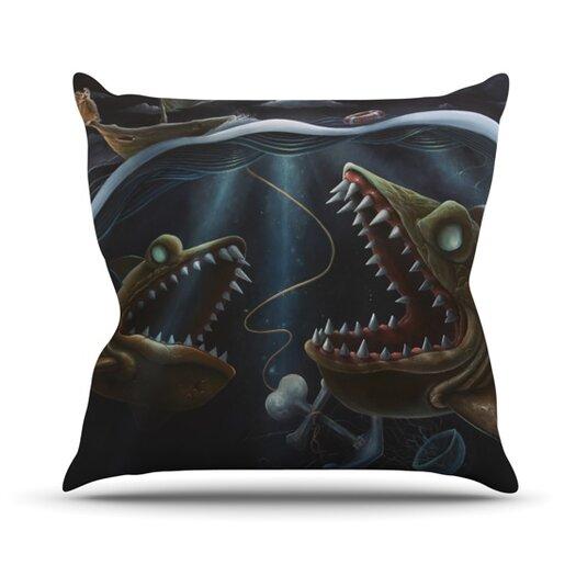 KESS InHouse Sink or Swim Throw Pillow