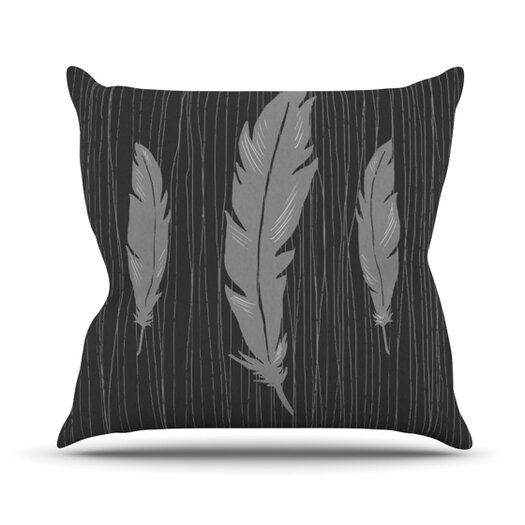 KESS InHouse Feathers Throw Pillow