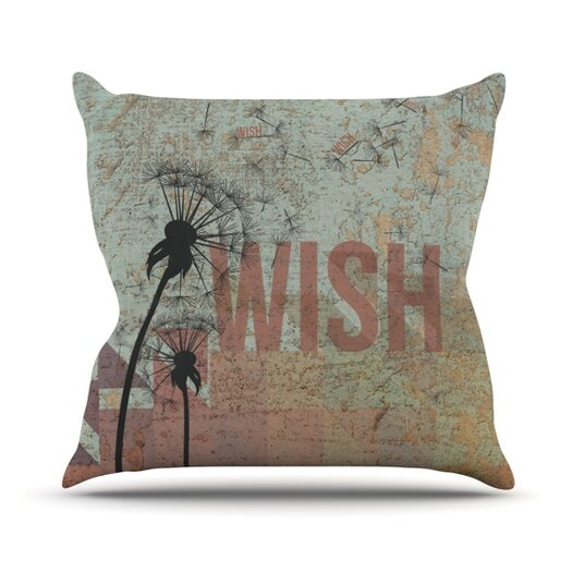 KESS InHouse Wish Throw Pillow