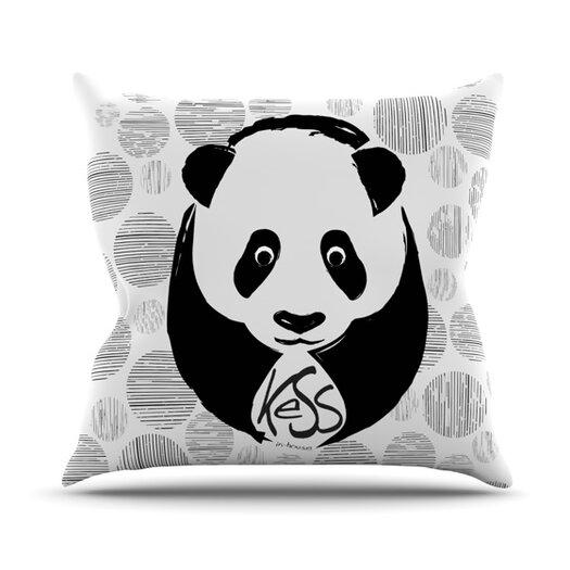 KESS InHouse Panda Throw Pillow
