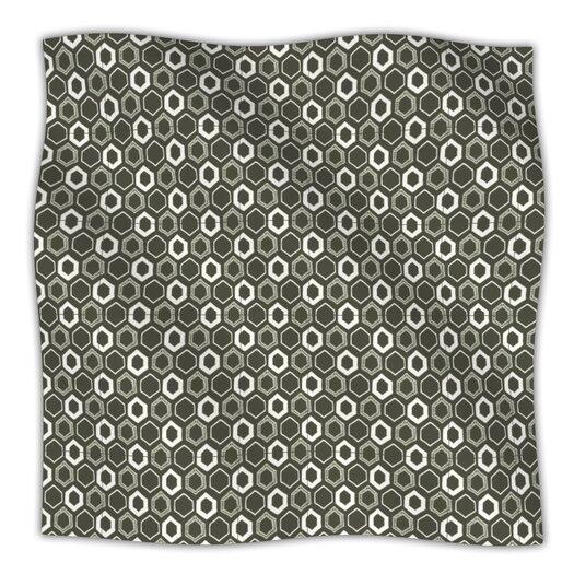 KESS InHouse Hexy Microfiber Fleece Throw Blanket