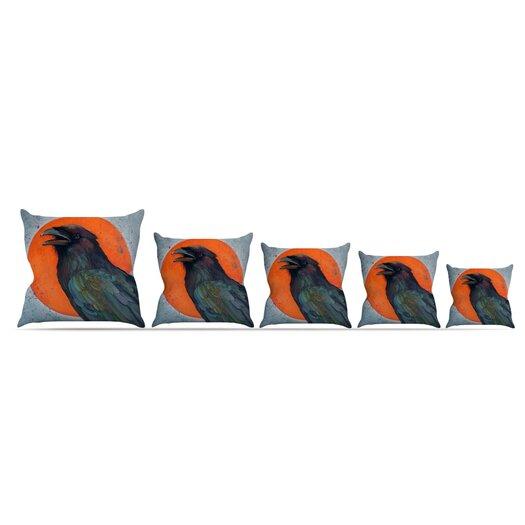 KESS InHouse Raven Sun Throw Pillow
