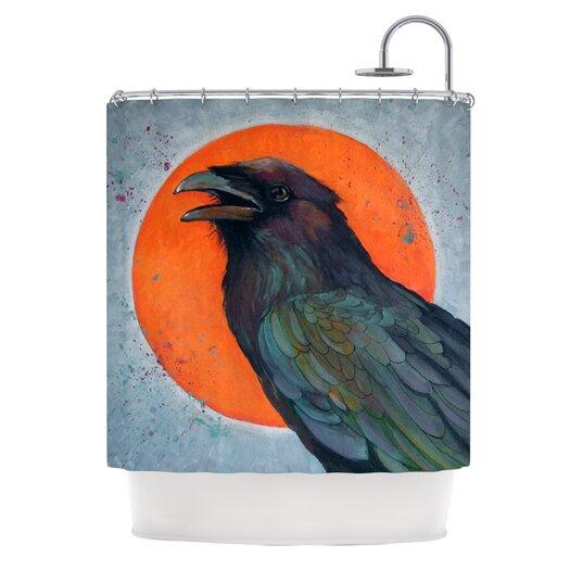 KESS InHouse Raven Sun Polyester Shower Curtain