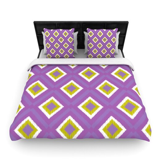 KESS InHouse Purple Splash Tile Throw Pillow