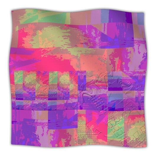KESS InHouse Embossed Impermenance Microfiber Fleece Throw Blanket