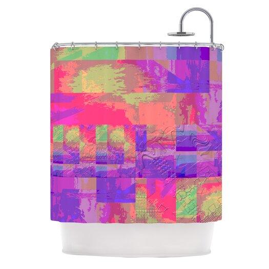 KESS InHouse Embossed Impermenance Polyester Shower Curtain
