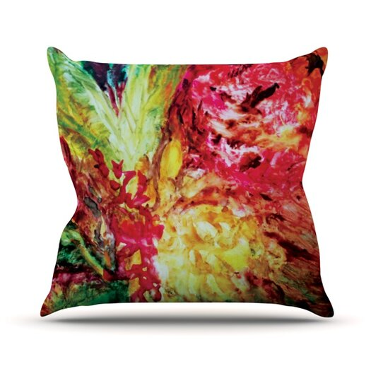KESS InHouse Passion Flowers I Throw Pillow