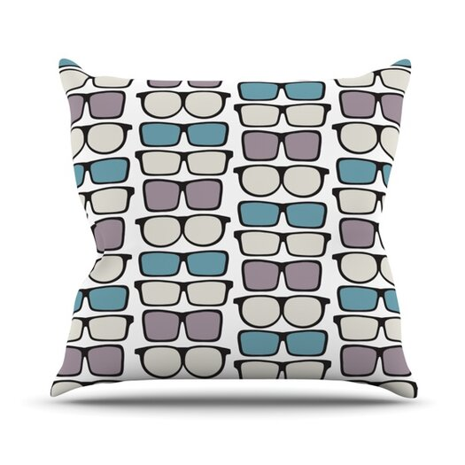 KESS InHouse Spectacles Geek Chic Throw Pillow