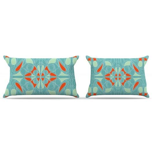 KESS InHouse Seafoam And Orange Pillow Case