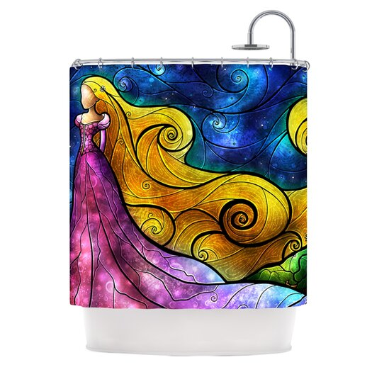 KESS InHouse Starry Lights Polyester Shower Curtain