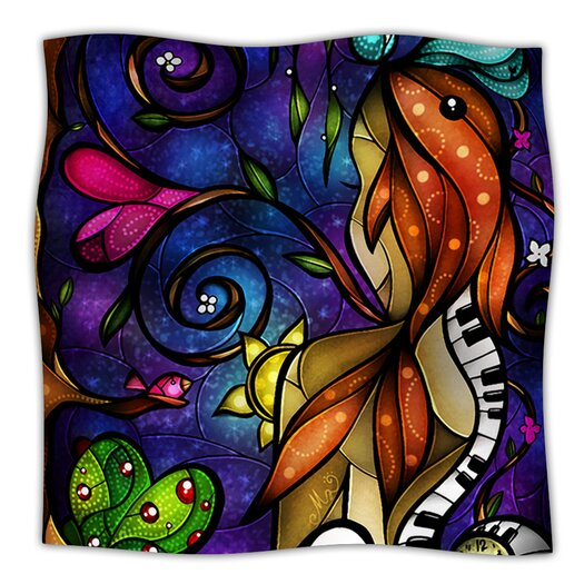 KESS InHouse Tell Me Stories Microfiber Fleece Throw Blanket