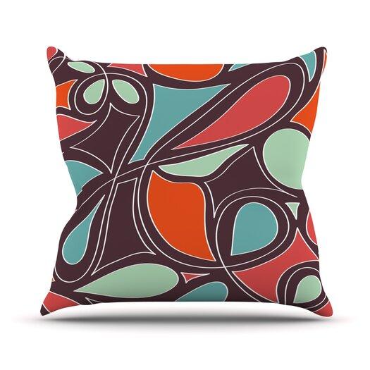 KESS InHouse Retro Swirl Throw Pillow