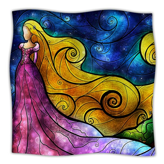 KESS InHouse Starry Lights Microfiber Fleece Throw Blanket