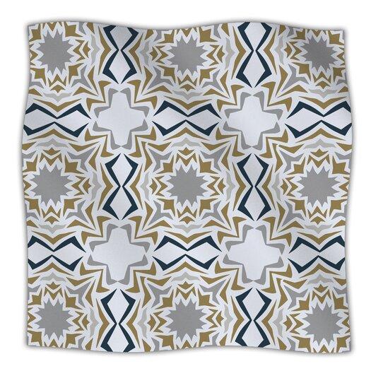 KESS InHouse Ice Stars Microfiber Fleece Throw Blanket