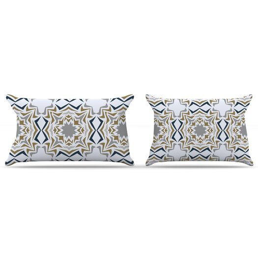 KESS InHouse Ice Stars Pillow Case