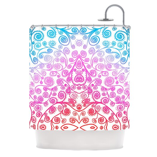 KESS InHouse Safe and Sound Polyester Shower Curtain