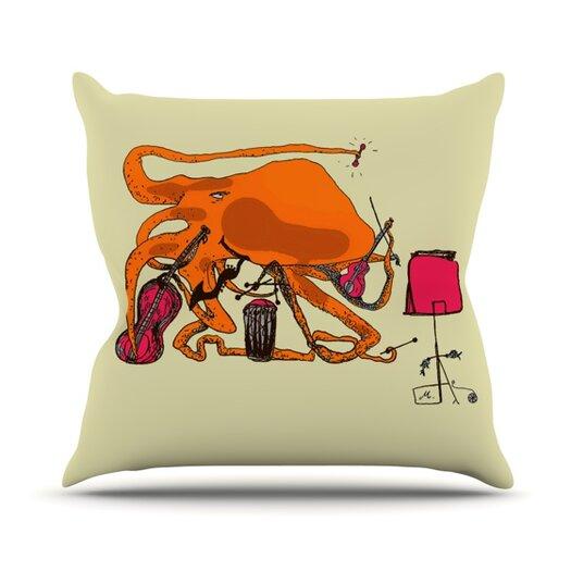 KESS InHouse Playful Octopus Throw Pillow