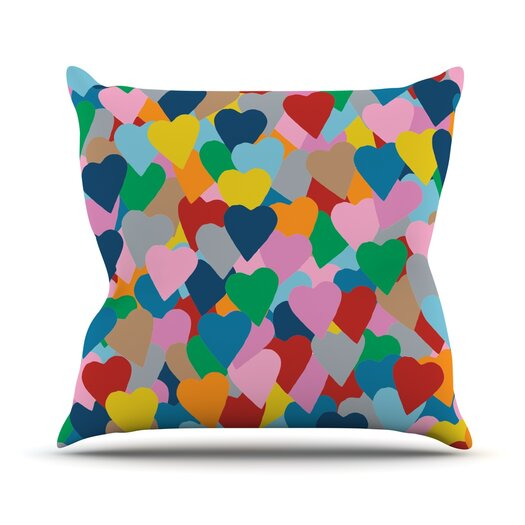 KESS InHouse More Hearts Throw Pillow
