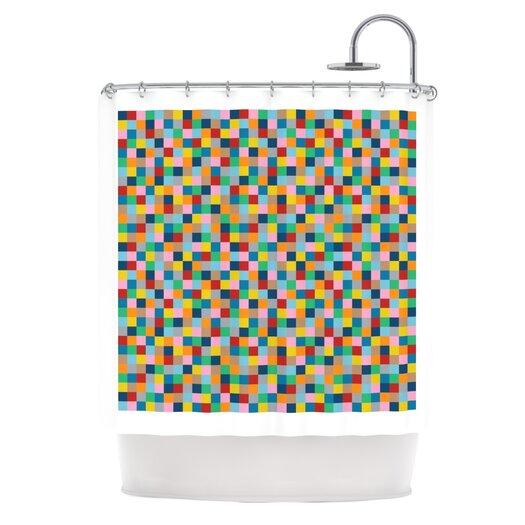 KESS InHouse Colour Blocks Polyester Shower Curtain
