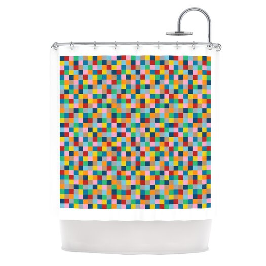 KESS InHouse Colour Blocks Polyester Shower Curtain