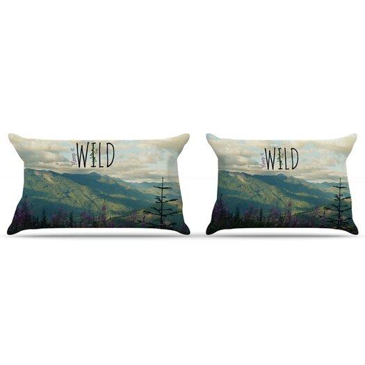 KESS InHouse Keep It Wild Pillow Case
