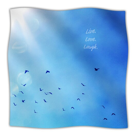 KESS InHouse Live Laugh Love Microfiber Fleece Throw Blanket