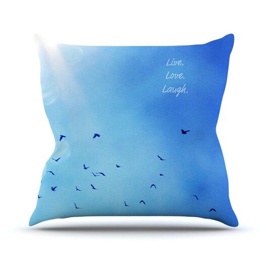 KESS InHouse Live Laugh Love Throw Pillow