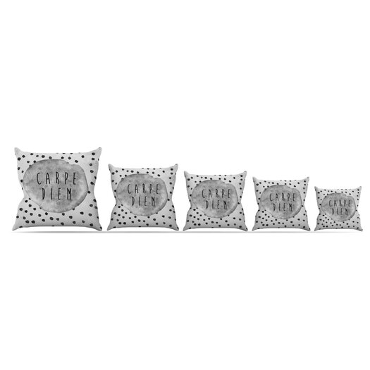 KESS InHouse Carpe Diem Throw Pillow