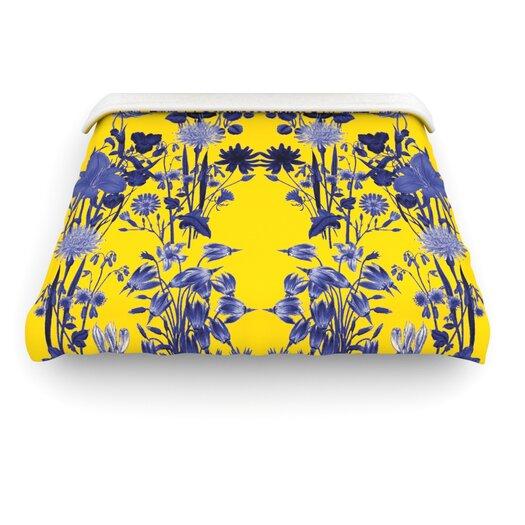 """KESS InHouse """"Bloom Flower"""" Woven Comforter Duvet Cover"""