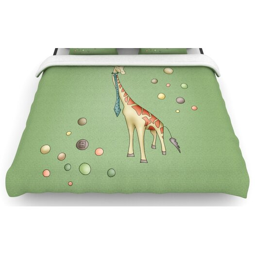 """KESS InHouse """"Giraffe"""" Woven Comforter Duvet Cover"""