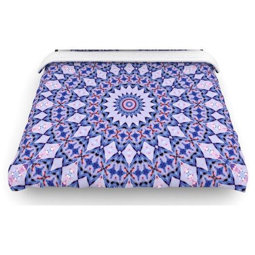 "KESS InHouse ""Kaleidoscope Blue"" Circle Woven Comforter Duvet Cover"
