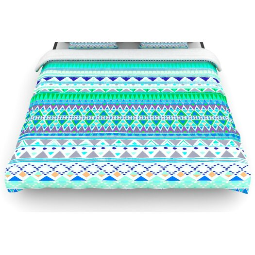 "KESS InHouse ""Emerald Chenoa"" Woven Comforter Duvet Cover"