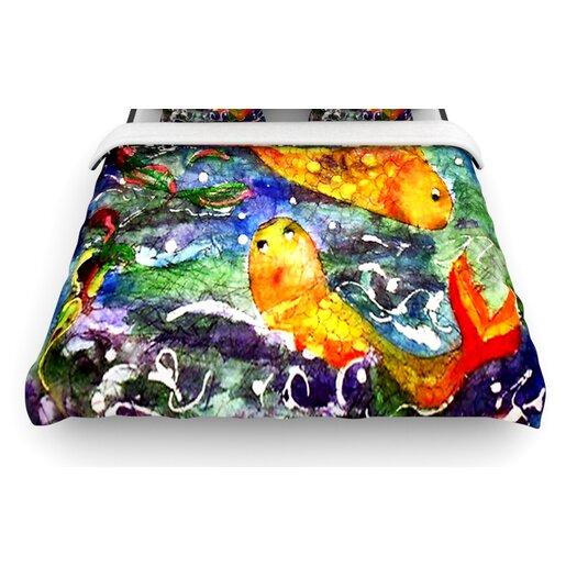 """KESS InHouse """"Fantasy Fish"""" Woven Comforter Duvet Cover"""
