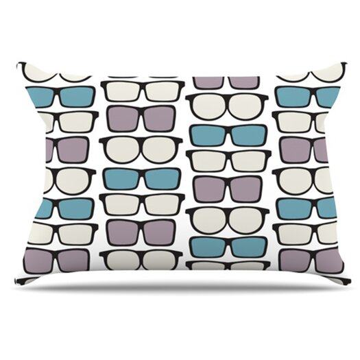 KESS InHouse Spectacles Geek Chic Pillowcase