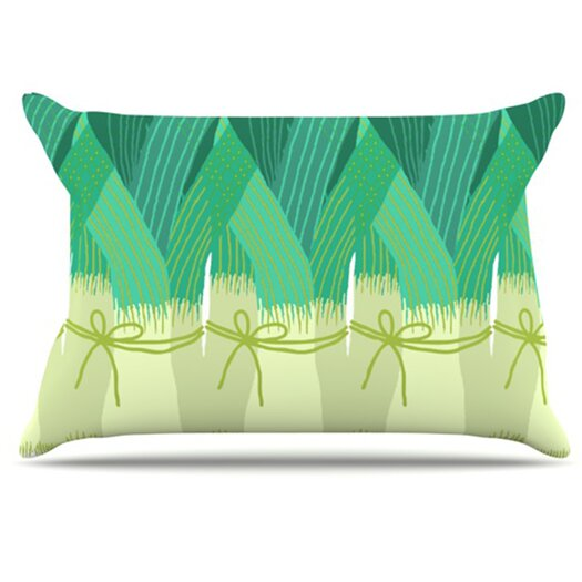 KESS InHouse Leeks Pillowcase