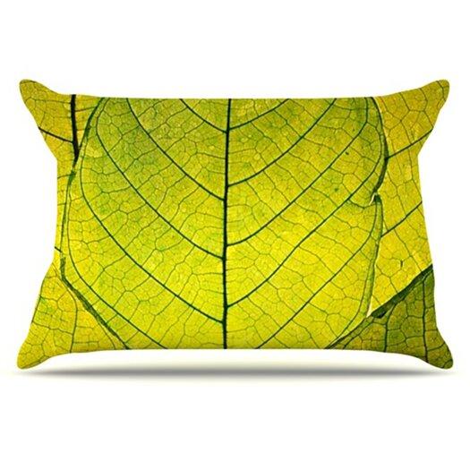 KESS InHouse Every Leaf a Flower Pillowcase
