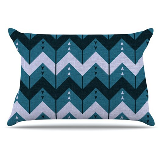 KESS InHouse Chevron Dance Pillowcase