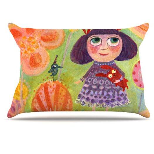 KESS InHouse Flowerland Pillowcase