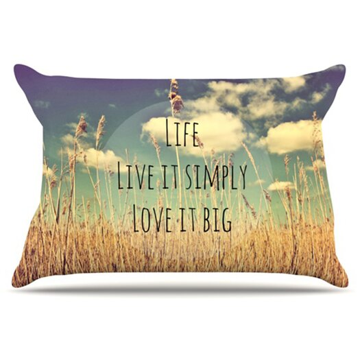 KESS InHouse Life Pillowcase