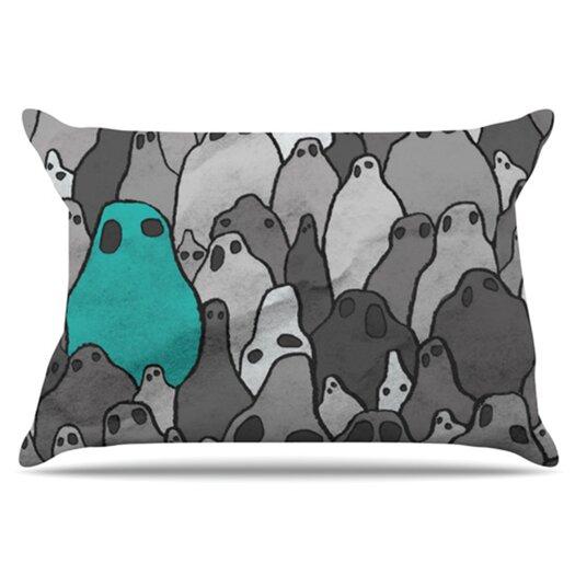 KESS InHouse Ghosts Pillowcase