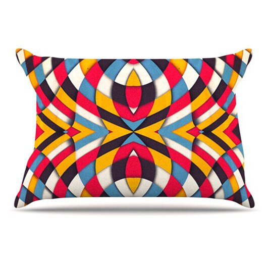 KESS InHouse Stained Glass Pillowcase