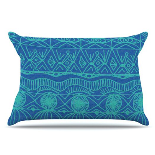 KESS InHouse Beach Blanket Confusion Pillowcase