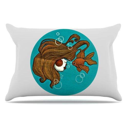 KESS InHouse Goldfish Pillowcase