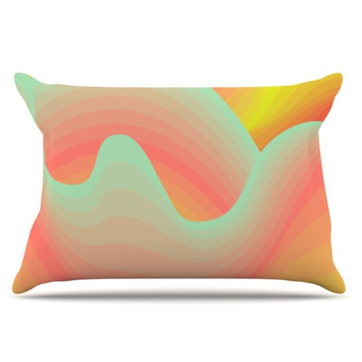 KESS InHouse Way of the Waves Blossom Bird Pillowcase