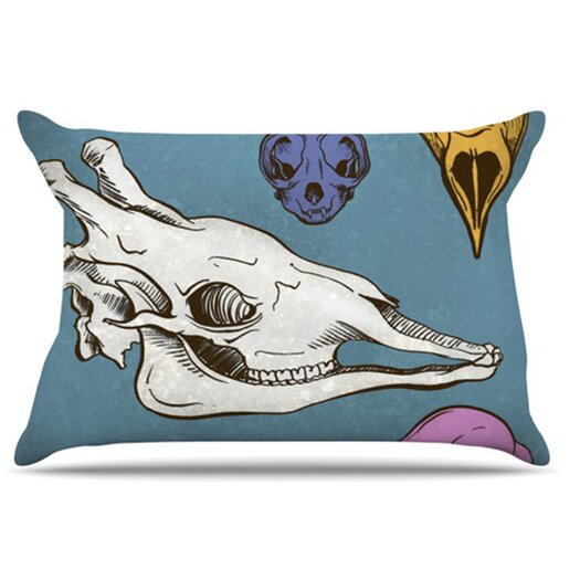 KESS InHouse Skulls Pillowcase