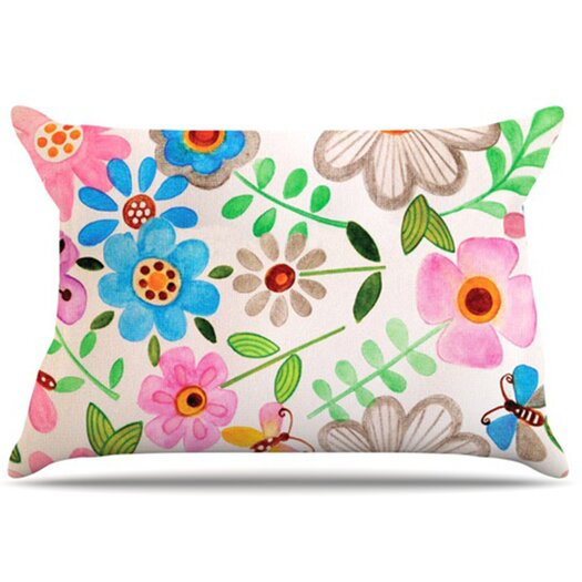 KESS InHouse The Garden Pillowcase